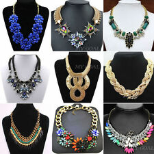Vintage Statement Bubble Bib Chunky Collar Party Jewelry Pendant Chain Necklace