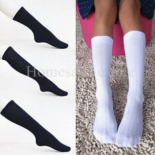 School Girl Boy Solid Ankle Knee-high Socks Kids Tight Dress Coat Stocking Hosen