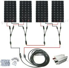 COMPLETE KITS: 160W 300W 600W 900W 1200W off grid solar panel system RV 12V/24V