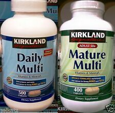 Kirkland Signature Daily Multi Vitamins & Minerals Multivitamins ~ Pick One