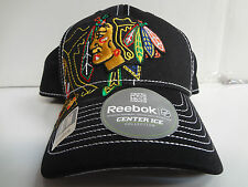 Chicago Blackhawks Reebok Cap Official 2013 Draft Day Stretch Fit Fitted Hat NHL