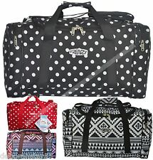 "Womens Polka Dot Aztec 21"" Holdall School Gym Maternity Sport School Cabin Bag"