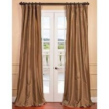 Gold Nugget Faux Silk Taffeta Curtain Panel