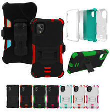 TRI-SHIELD RUGGED SKIN HARD CASE STAND BELT CLIP HOLSTER FOR LG/GOOGLE NEXUS 5