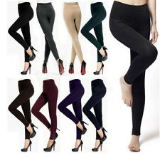Lady's Thick Fleece Lined Thermal Footless Leggings Tight Warm Winter Pant an198