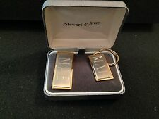 Money Clip and Key Chain with Monogram of M.A.E. in box