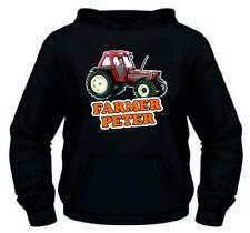 Fiatagri Fiat 110 90 New Tractor Childs New Kids Rear Quality Hoodie Age 5 To 13
