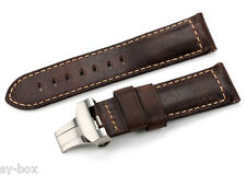24 *22 mm: Bracelet Cuir veillie / Assolutamente Leather pour PANERAI LUMINOR