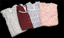 LANZ OF SALZBURG Pink or Blue Roses*Floral Stripes*Plaid Long Nightgown Wms $64