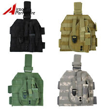 Tactical Military Airsoft Molle Panel Pistol Gun Drop Leg Thigh Holster Pouch