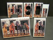 HORSES READY TO RIDE  HOME DECOR LIGHT SWITCH COVER PLATE OR OUTLET