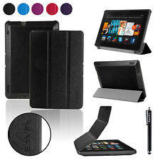 "Hot Sale Folio Leather Case Stand Cover For Amazon Kindle Fire HDX 7 7.0"" + Pen"