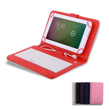 "Multi-Color 7"" Wide PU Leather Stand Case Cover USB Keyboard for 7'' inch Tablet"