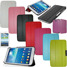 """Magnetic Smart Cover Leather + Back Case for New Samsung Galaxy Tab 3 7.0 7"""""""