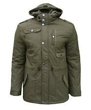 Soul Star Jared Men's Padded Casual Winter Military Coat Jacket Parka khaki 2039