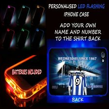 PERSONALISED UNOFFICIAL SHEFFIELD WEDNESDAY FLASHING LED IPHONE TPU HARD CASE