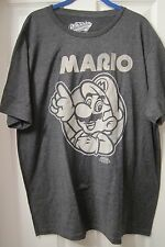 OLD NAVY MEN'S  SUPER MARIO BROTHERS GRAY T SHIRT SIZE LRG XL MED SMALL 2XL NWT