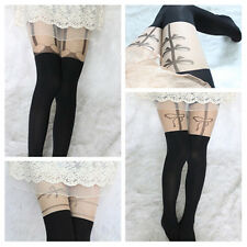 Lady's Pattern Jacquard Leggings Tattoo Socks Sexy Pantyhose Tights Stocking 15