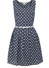 YUMI LADIES DOTTY DRESS BLUE YN359 RRP £45.00 VARIOUS SIZES S/S2014