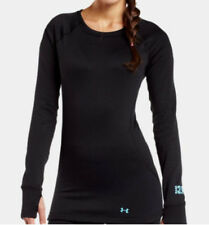 Under Armour Women's Base 3.0 Crew Long Sleeve Base Layer (Black) 1239711-001