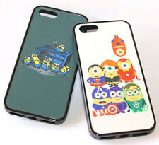 for iPhone 5 5S Funny Minion Character Hard TPU Rubber Silicone Gummy Case Cover
