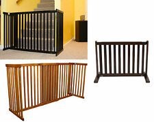 "30""H Kensington poplar wood pet dog cat gate barrier S 28"" to 48""W in 3 stains"