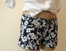 NWT size 8 10 12 FLORAL DENIM summer beach short shorts BLUE white tropicl print