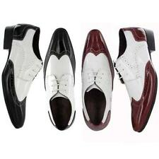 MENS GATSBY SHOES POINTED JAZZ EVENING BROGUE FORMAL WEDDING FASHION SHOES SIZE
