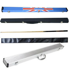 3/4 Ash Wood Snooker Pool Cues Mini Butt Cue Hard Soft Carry Case Foam Lined UK