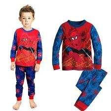 "Baby Kids Boys Girls Suit Sleepwear ""Spider-Man"" Hero Pajama Set Gift 1-7Years"