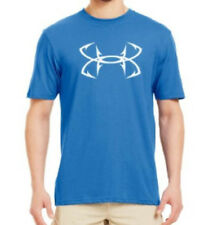 Under Armour Charged Cotton Fish Hook Logo Short Sleeve Tee (Blue) 1230791-485