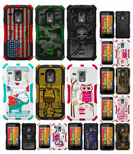 NEW RUGGED TRI-SHIELD DESIGN SOFT SKIN HARD CASE COVER STAND FOR MOTOROLA MOTO-G