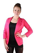 Ladies NEW 3/4 Turn Up Sleeve Open Front Ruched Pocket Blazer Sizes 8-16