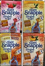 Diet Snapple Singles to Go! Iced Tea Mix Vitamins Sugar Free ~ Pick One