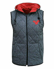 Voi Jeans Men's Cave Reversible Body Warmer Gilet Jacket Coat grey / red
