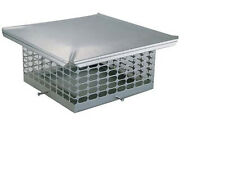 Stainless Steel Chimney Cap 8x8, 8x13, 13x13, 13x18, 18x18