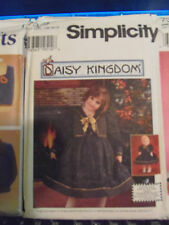 Simplicity Girls  Pattern # 7359 Daisy Kingdom Dress & Vest BONUS Doll Pattern