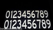 2 sets 0-9 Numbers Reflective Decal White safety sticker Boat Truck Door Mailbox
