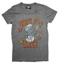 The Smurfs Vote For Me Vintage Style Junk Food Cartoon Juniors T-Shirt Tee