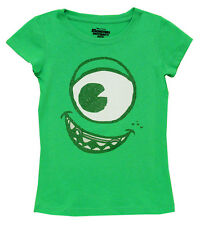 Monsters University Glitter Mike Face Movie Juvenile Girls T-Shirt Tee