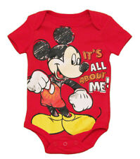 Mickey Mouse All About Me Disney Cartoon Baby Creeper Romper Snapsuit