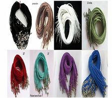 """Wholesale velvet Strings With Connector For Necklace 20""""inches 10PCS U"""
