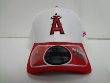 Los Angeles Angels Cap New Era 39Thirty Stretch Fit Fitted Hat DE White CR MLB