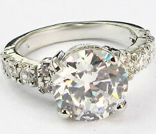 Size 6,7,8,9 Jewelry Woman's White Sapphire 10KT White Gold Filled Ring