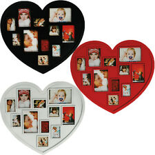 HEART SHAPE 11 MULTI PHOTO PICTURE DISPLAY FRAME LARGE FAMILY HOME GIFT NEW SET