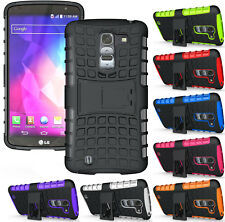 GRENADE RUGGED TPU SKIN HARD CASE COVER STAND FOR LG OPTIMUS G PRO-2 F350 D838