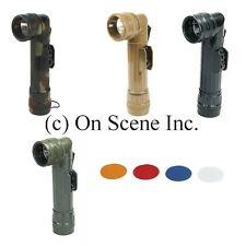 Angle Head Coyote Desert Tan Black Camo OD Military Army Scout D-Cell Flashlight