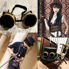 Cyber Goggle Steampunk Glasses Welding Gothic Cosplay Prop Copper Vintage Rustic
