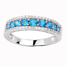 Shining Band Solid 925 Sterling Silver Wedding Ring for Women Size Selectable