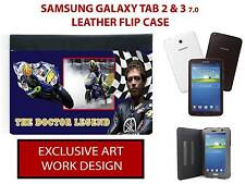 VALENTINO ROSSI SUPER BIKE LEGEND SAMSUNG GALAXY TAB 2/3 7.0 LEATHER CASE